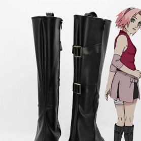 Naruto Cosplay Sakura Haruno Hight Heel Cosplay Ninja Boots