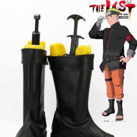 Naruto Uzumaki Naruto Black Ninja Cosplay Boots