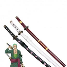 New One Piece Cosplay Roronoa Zoro Whole 3 Cosplay Weapon Wood Swords