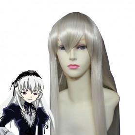 80cm Silver Rozen Maiden Mercury Lampe/Suigintou Cosplay Wig