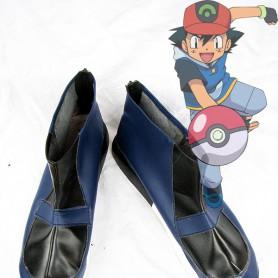 Pokemon Ash Ketchum Dark Blue Cosplay Shoes