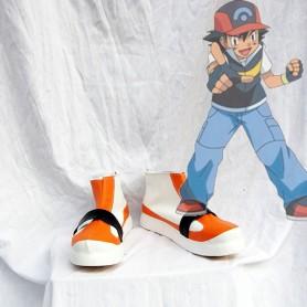 Pokemon Ash Ketchum Yellow Cosplay Shoes