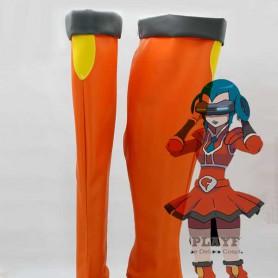 Pokemon Cosplay Bryon Orange Hight Heel Cosplay Boots
