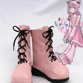 Pokemon Cosplay Jigglypuff Pink Cosplay Boots