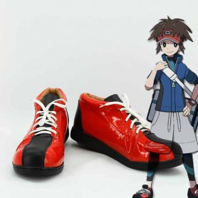 Pokemon Nate Black & Red Cosplay Shoes