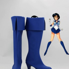 Sailor Moon Cosplay Sailor Mercury Blue Cosplay Boots