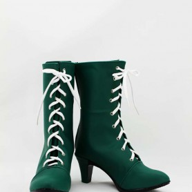 Sailor Moon Kino Makoto / Sailor Jupiter Green Cosplay Boots
