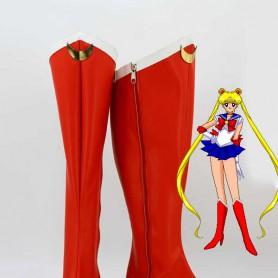 Sailor Moon Tsukino Usagi Red Heels Cosplay Boots