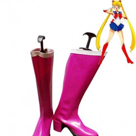 Sailor Moon Tsukino Usagi Thick Heels Cosplay Boots