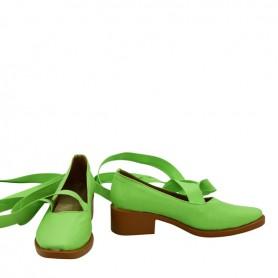 Shugo Chara Hinamori Amu Green Cosplay Shoes
