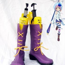 Shugo Chara Hinamori Amu Purple Cosplay Boots