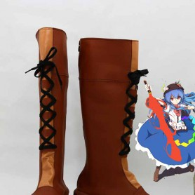 Scarlet Weather Rhapsody Hinanawi Tenshi Cosplay Boots