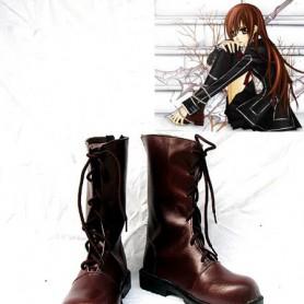 Vampire Knight Cosplay Shoes Kuran Yuuki Brown Leather Boots