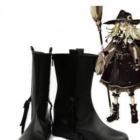 Touhou Project Kirisame Marisa Black Cosplay Boots