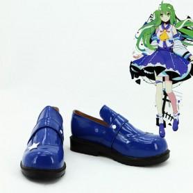 Touhou Project Kochiya Sanae Cosplay Boots