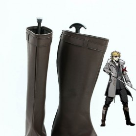 Unlight StrayDog Izac Brown Cosplay Boots