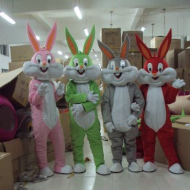 Bugs Bunny Cartoon Doll Cartoon Clothing Doll Dress Costumes Plush Dolls Walking Doll Mascot Costume