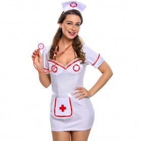 Sexy Nurse Temptation Uniforms Halloween Costume