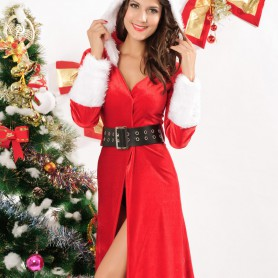 Europe and The United States Winter Christmas Long - Sleeved Style Christmas Dress