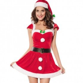 European and American Red Short - Sleeved Style Sexy Naughty Christmas Christmas Equipment