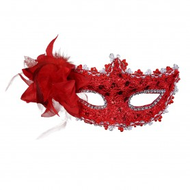 Halloween Venetian Mask Lace Rhinestone Mask Lily Princess Flower Mask