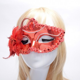 Italy Venetian Princess Mask Pointed To The Edge of The Side of The Flower Mask