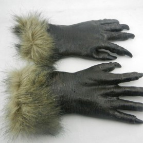 Halloween Christmas Carnival Latex Plush Animal Gloves Terror Wolves Glove Promotions