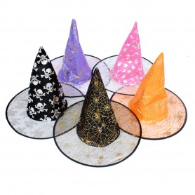 Cosmetics Halloween Supplies Multi Style Magic Wizards Hat Witch Cap Style Random