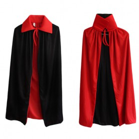 Halloween Collar Black and Red Cloak Witch Cloak Vampire Cloak Double Layer Single Layer Cloak Death God Devil