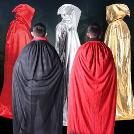Halloween Costume Dress Clothing Witch Cloak Mop Death Death Cloak Adult Cloak Castle Black Red Cloak