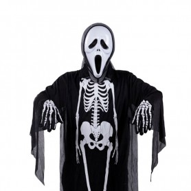 Halloween Costume Ghost Festival Costume Skull Head Ghost Clothing Makeup Dress Skull Glove Performance Suit