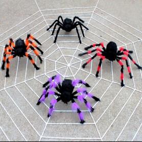 Halloween Costume Ornament Whole Black Plush Spider Flower Spider Spider Web Tamper Toys