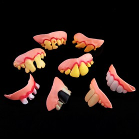 Halloween Dentures Whole Toy Zombie Teeth Ktv Tonic Funny Funny False Teeth Zhuan Teeth