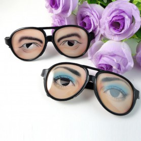 Halloween Fool Day Overall Toys Men and Women Funny Funny Glasses Plastic