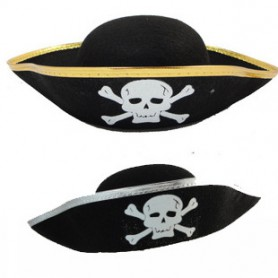 Halloween Pirate Patch Game Pirate Captain Dress Up Pirate Performance Hat Caribbean Pirate Captain Hat