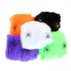 Halloween Spider Cotton Ktv Decorative Supplies Halloween Scene Decorative Spider Web 5 Colors