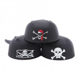 Halloween Supplies Supplies - Round Pirate Hat Pirate Captain Hat