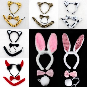 Performing Dress Up Dress Up Game Supplies Multi Style Animal Tries Rabbit Ear