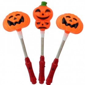Halloween Gift Adult Child Pumpkin Clothing Accessories Light Shaking Sticks Pumpkin Bar
