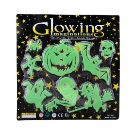 Halloween Items Halloween Scene Halloween Horror Decorative Luminous Stickers