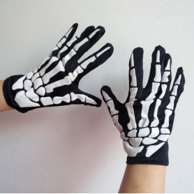 Halloween Supplies Decorations Terror Skeleton Gloves Gloves Cloth Bags
