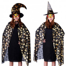 Clothing Halloween Costume Accessories Adult Gold Pumpkin Cloak