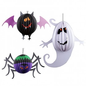 Halloween Decorative Supplies Funny Ghost Bats Spider Lanterns Decorative Halloween Decorations