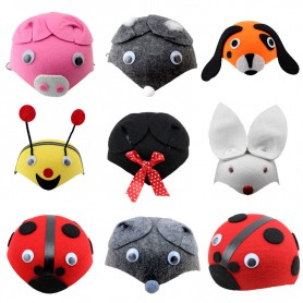Stage Performance Hat Performance Game Parental Cartoon Cartoon Cute Little Animal Hat