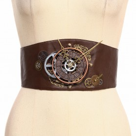 Steam Punk Steampunk Decorated Wide Belt Belt Girdle