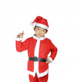 Christmas Clothes Non-woven Fabrics Years Old Boys Santa Claus Suit Suit Christmas Supplies