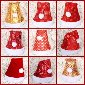 Christmas Decoration Adult Red Ordinary Christmas Hat Santa Claus Sale