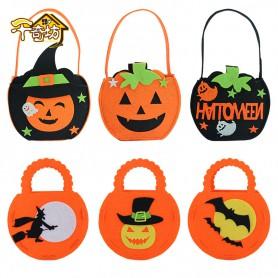 Halloween Decoration Products DIY Pumpkin Bag Bag Non-woven Pumpkin Bag Gift Candy Bag