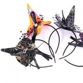 Witch Throttle Halloween Witch Top Cap Little Cap Headdress Hairband Witch Hoop Witch Witch Hairband