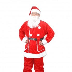 Christmas Costume Santa Claus Christmas Suit Men B Style Five-piece Suit with Pocket